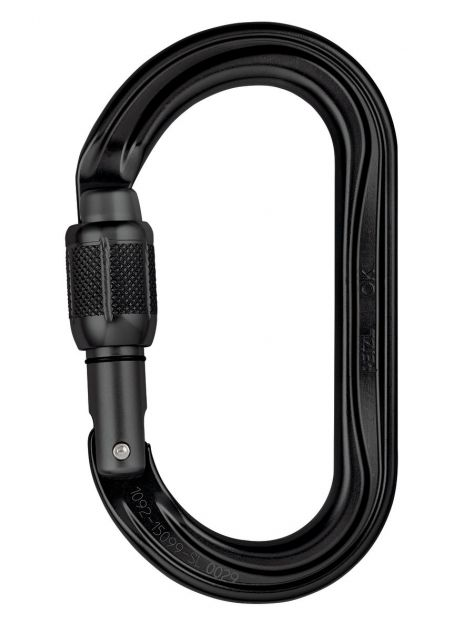 Karabinek OK Screw Lock Petzl czarny