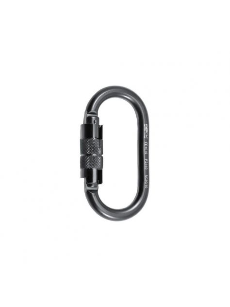 Karabinek Oval 2lock stalowy Rock Empire czarny