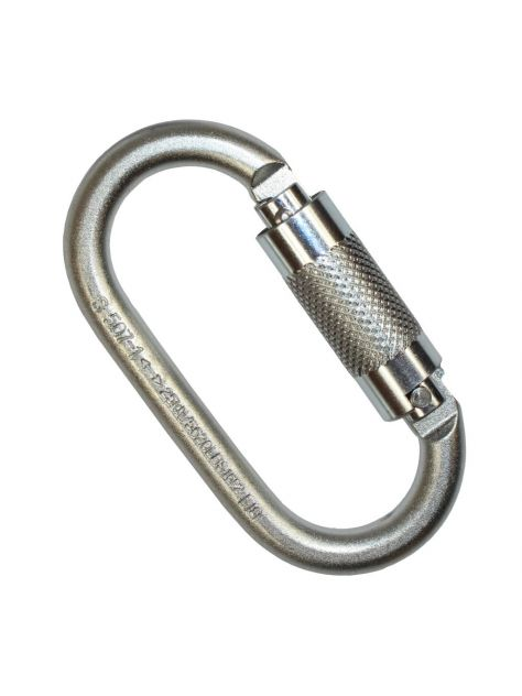 Karabinek stalowy oval steel RGK-2 Twist Lock Ridge Gear